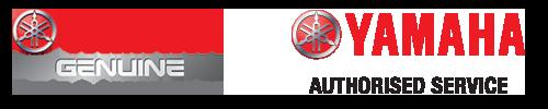 Yamaha Genuine Parts & Accessories logo and Yamaha Authorised Service logo