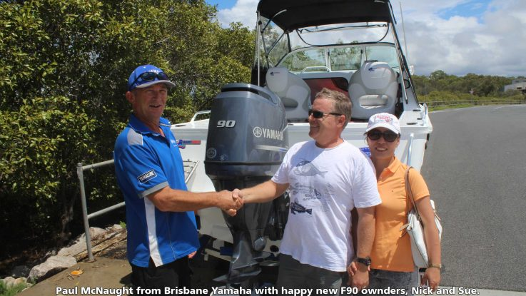 Australia's first 90HP Yamaha sold by Brisbane Yamaha!