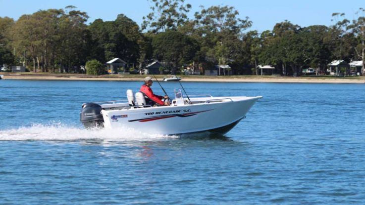 Quintrex Renegade 460 Side Console + Yamaha F60 4-stroke water test/boat review